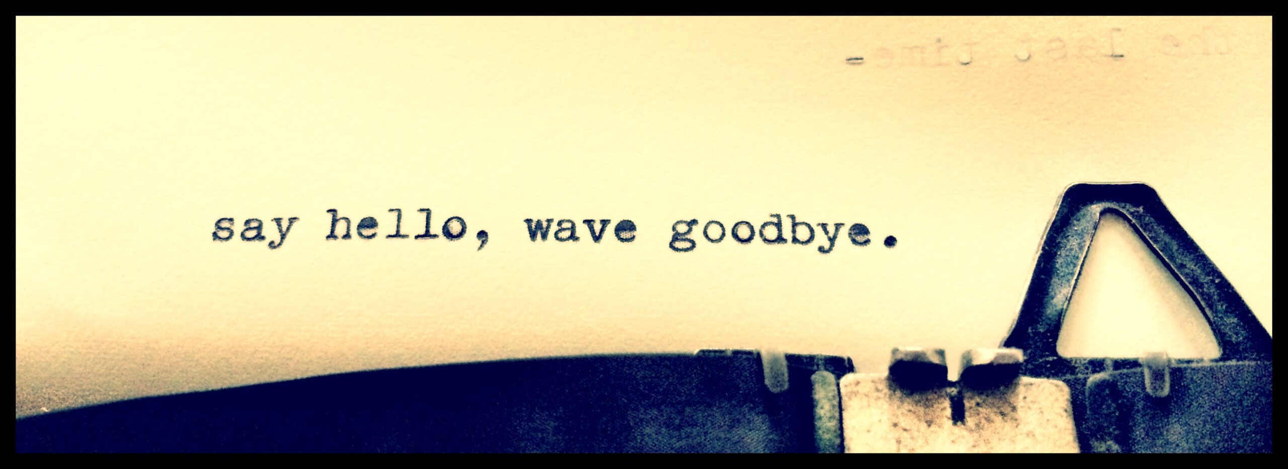 Say Hello Wave Goodbye